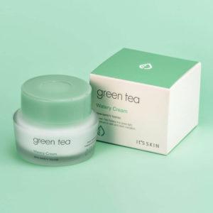 Крем для лица с зеленым чаем It's Skin