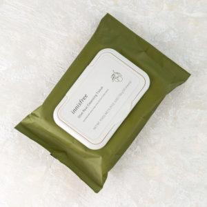 Очищающие салфетки с экстрактом оливы Innisfree