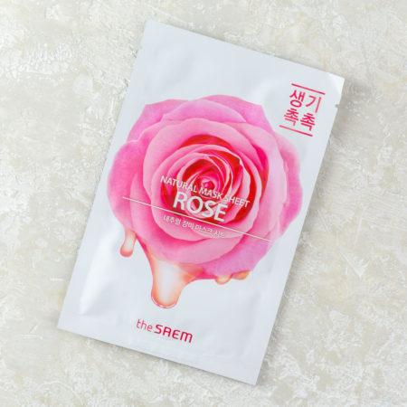 тканевая маска с розой увлажняющая