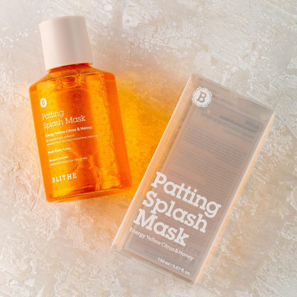 сплэш- маска от Blithe для сияния кожи с медом и лимоном.